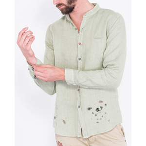 [지아니루포]Regular Fit Different Buttons C2423 린넨 셔츠(GN)