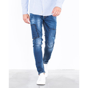 [지아니루포]Skinny Fit Square Stitchings GL276C 남성 청바지